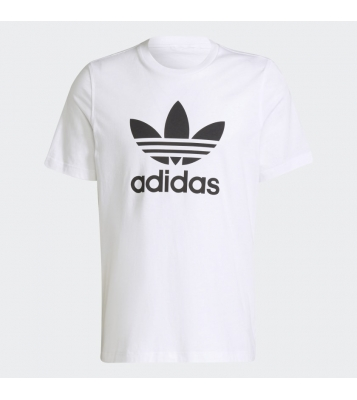 Tshirt Trefoil blanc logo noir