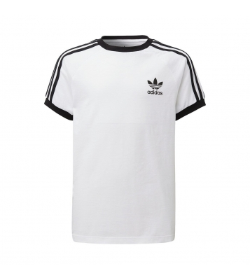 Tshirt à col rond blanc/noir