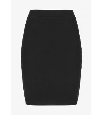 Jupe crayon noir logo blanc