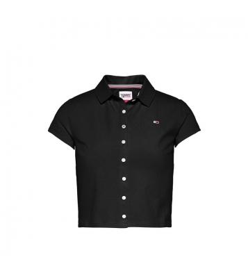 Polo à boutons noir