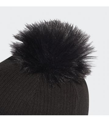 Bonnet avec pompom noir...
