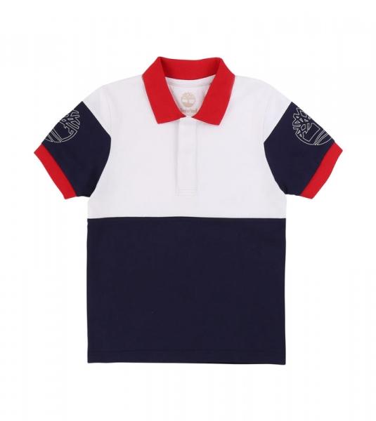 Polo Colorblock Rouge & Bleu