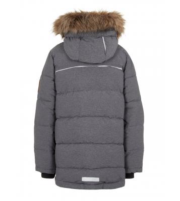 Manteau gris capuche et...