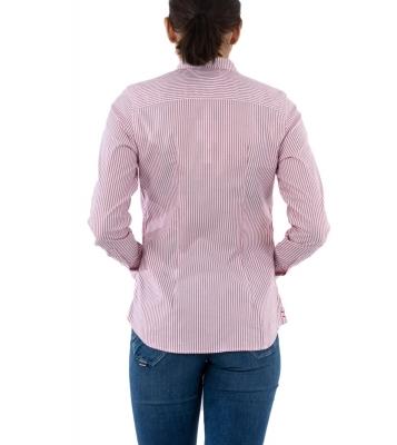 Chemise rayée rouge/blanc