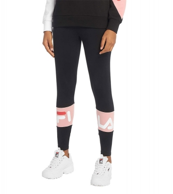 Dina legging noir/rose