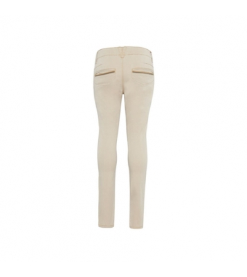 Pantalon chino beige slim fit