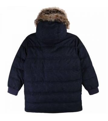 Manteau bleu avec capuche...