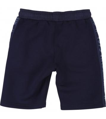 Short en molleton bleu