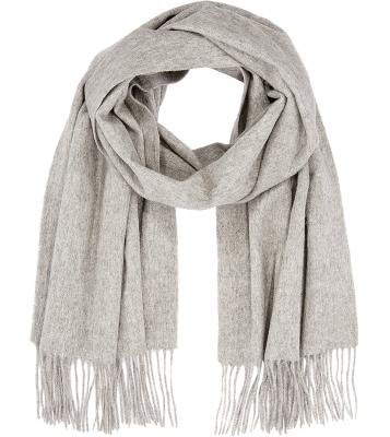 Écharpe en laine grise claire