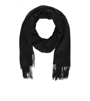 Écharpe en laine noire
