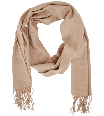Écharpe en laine beige