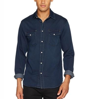 chemise blue denim Slim