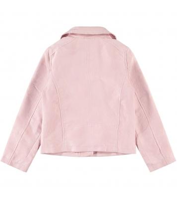 Veste en daim synthétique rose
