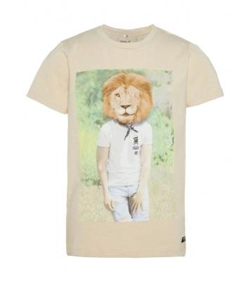 Tshirt beige tête de lion...