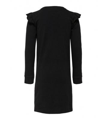 Robe pull noir franges sur...