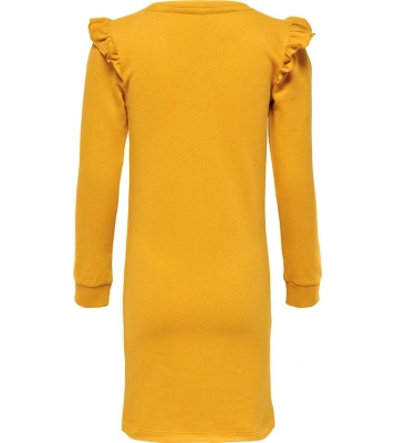 Robe pull moutarde franges...