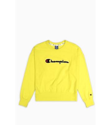 Pull jaune logo noir