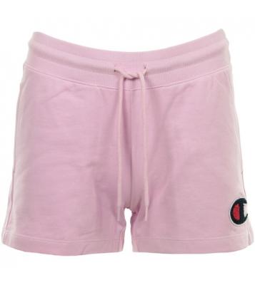Short en coton bouclé rose