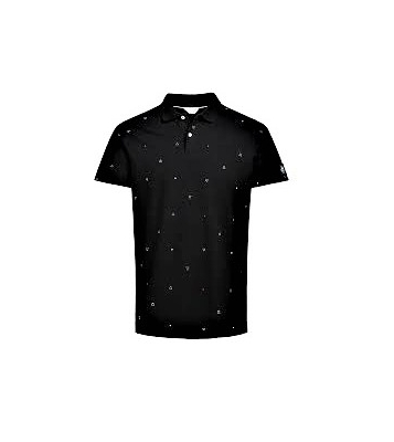 12120376 polo black/white SLIM