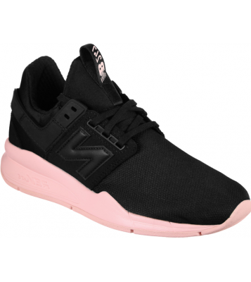 Basket 247 noir semelle rose
