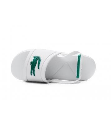 Claquettes blanche et verte
