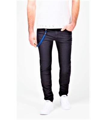 Jeans noir détail cordon...