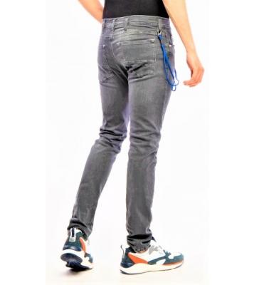 Jeans Gris détail cordon...