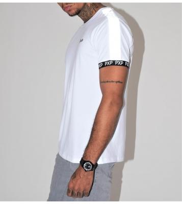 Tshirt blanc à bandes...