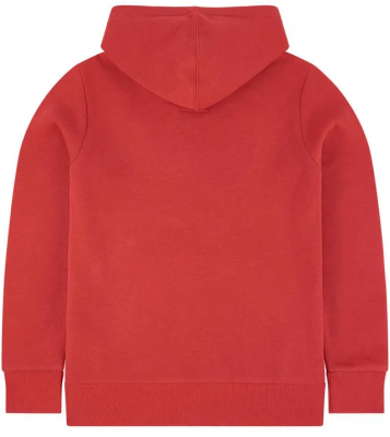 Sweat à capuche rouge logo...
