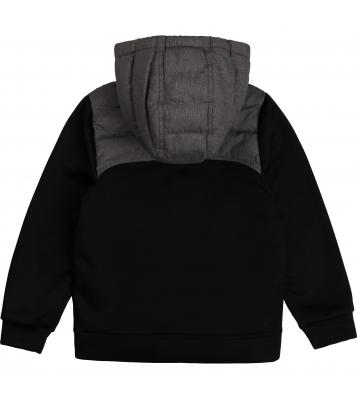 Veste noir et grise bimatière