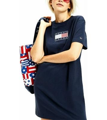 Robe Tshirt en coton marine