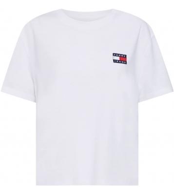 Tshirt Badge Cropped blanc