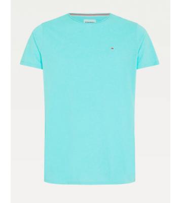 Tshirt à col rond bleu