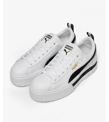 Basket Mayze blanche/noir