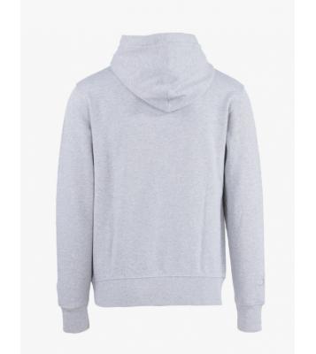 Sweat à capuche gris logo noir